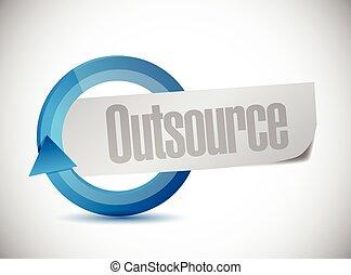 outsource, ciclo, disegno, illustrazione, segno