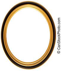 ovale, anticaglia, cornice, immagine