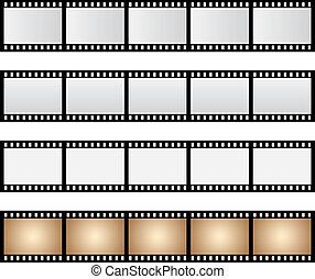 pacco, vettore, isolato, striscia cinematografica