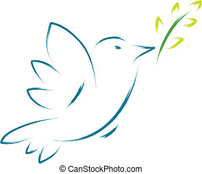 pace, fiore, colomba