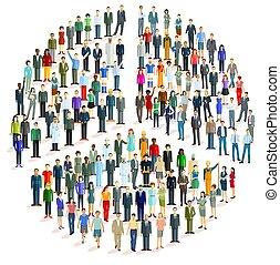 pace, gruppo, forma, persone, grande, -, simbolo, vettore, illustration.eps