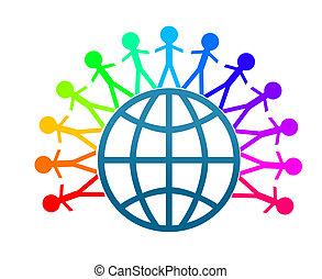 pace mondo, arte, clip, colorfull