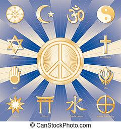 pace mondo, molti, faiths