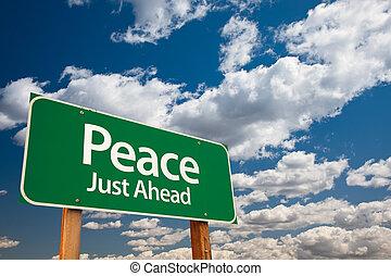 pace, verde, segno strada