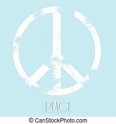 pace, vettore, illustrazione