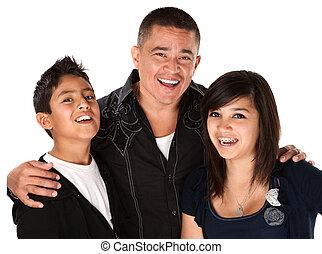 padre, due bambini