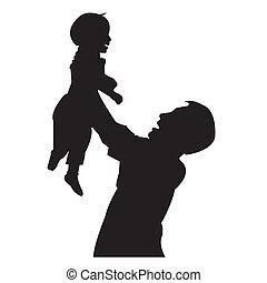 padre, figlio, isolato