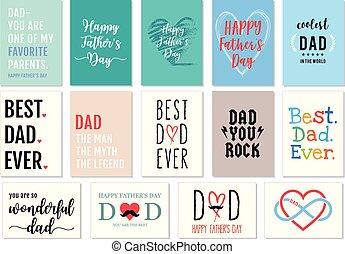padre, vettore, set, giorno, cartelle