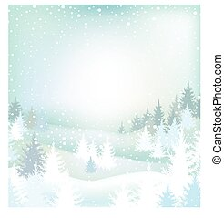 paesaggio, alberi inverno