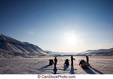 paesaggio inverno, avventura