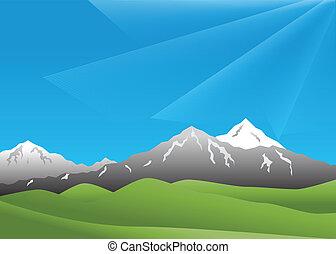 paesaggio, montagne