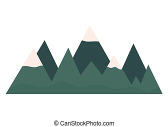 paesaggio, montagne, isoalted