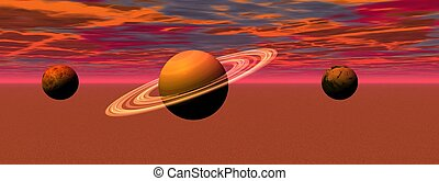 paesaggio, pianeti
