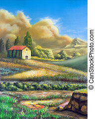 paesaggio rurale, italiano