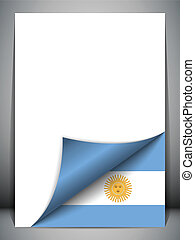 paese, argentina, giramento, bandiera, pagina