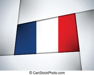 paese, bandiera, geometrico, fondo, francia