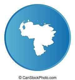 paese, bottone, venezuela, contorno, 3d