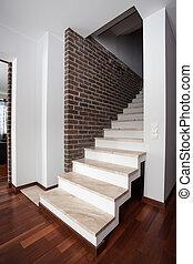 paese, -, scale, casa