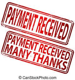 pagamento, ricevuto, francobollo