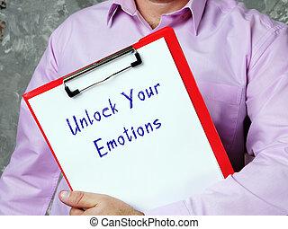 page., tuo, emozioni, iscrizione, aprire