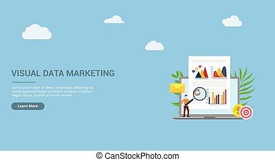 pagina, uomo, persone, ingrandendo, grafico, ui, documento, -, sagoma, atterraggio, vetro, marketing, dati, carta, visuale, sito web, concetto, vettore, analizzare, affari, grafico, finanza, disegno