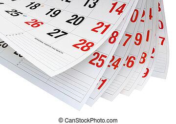 pagine, calendario