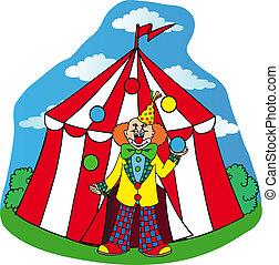 pagliaccio circo, tenda