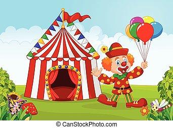 pagliaccio, tenda circus