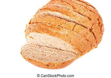 pagnotta, affettato, grano, bianco, intero, bread