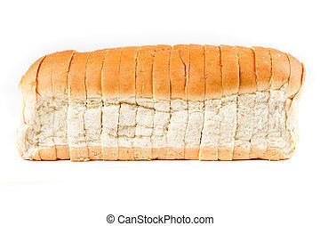pagnotta, isolato, grano, fondo, bianco, intero, bread