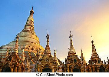 pagoda, shwedagon, myanmar, yangon