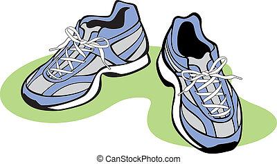 paio, scarpe atletiche