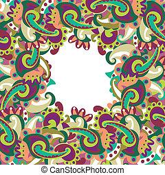 paisley, cornice, colorito