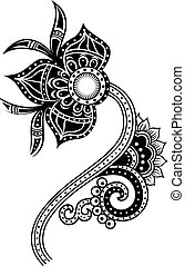 paisley, fiore, illustrazione