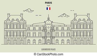palazzo, france., punto di riferimento, lussemburgo, icona, parigi