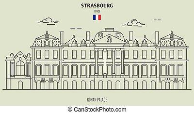 palazzo, france., strasburgo, punto di riferimento, rohan, icona