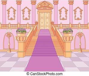 palazzo, magia, scala, lusso