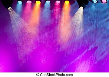 palcoscenico, vivido, riflettori
