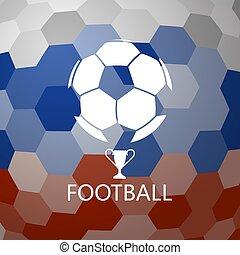 palla, astratto, calcio, fondo