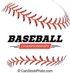 palla bianca, baseball, fondo.