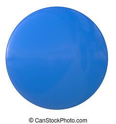 palla blu, plastica