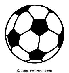 palla, calcio, delineato