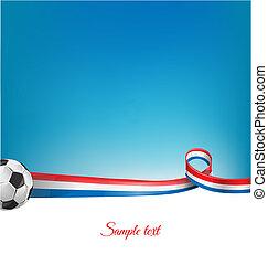 palla calcio, fondo, francia