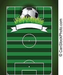 palla, campo football, sfondo verde, calcio, presentazione