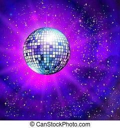 palla discoteca, esterno, fondo, spazio