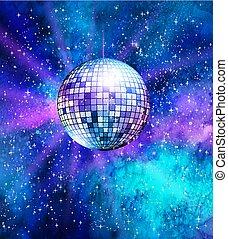 palla discoteca, fondo, spazio