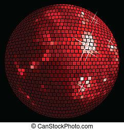 palla, fondo, discoteca