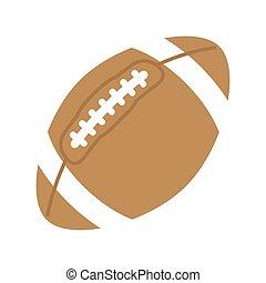 palla football, americano, vettore, disegno