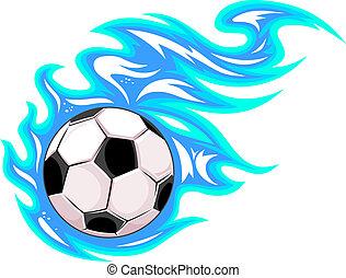 palla, football calcio, o, campionato
