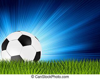 palla, football, eps, grass., 8, calcio, o